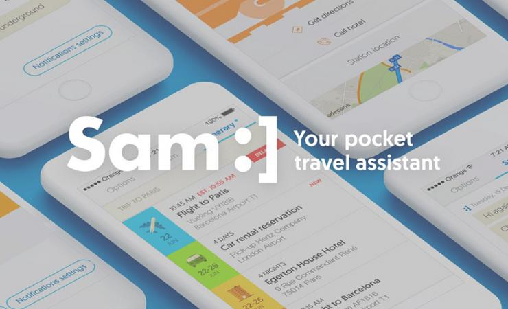 Sam :] Your Pocket Travel Assistant Banner