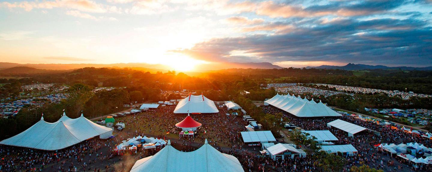 Aerial view of Bluesfest grounds