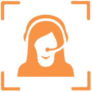 Icon of woman with headset